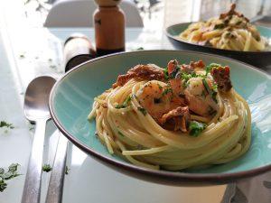 spaghettis crevettes rapide
