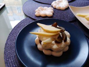 pavlova avec meringue compote de figues et mascarpone