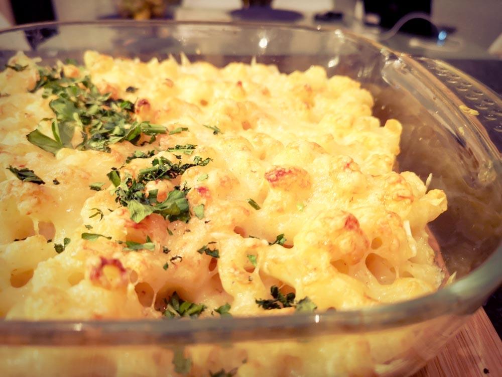 macaroni au gratin avec du persil
