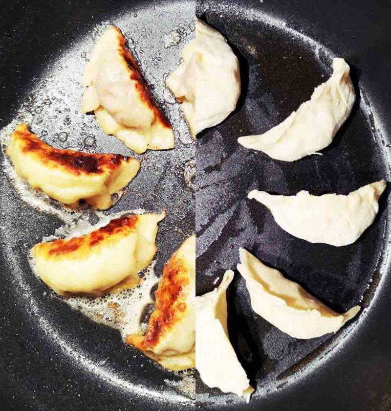 recette gyoza maison dans une poele