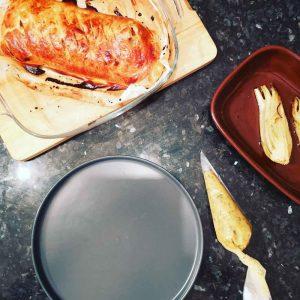dressage du filet mignon de porc en croute moutarde et miel