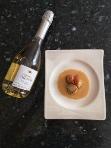 Saint jacques et champagne recette de noel
