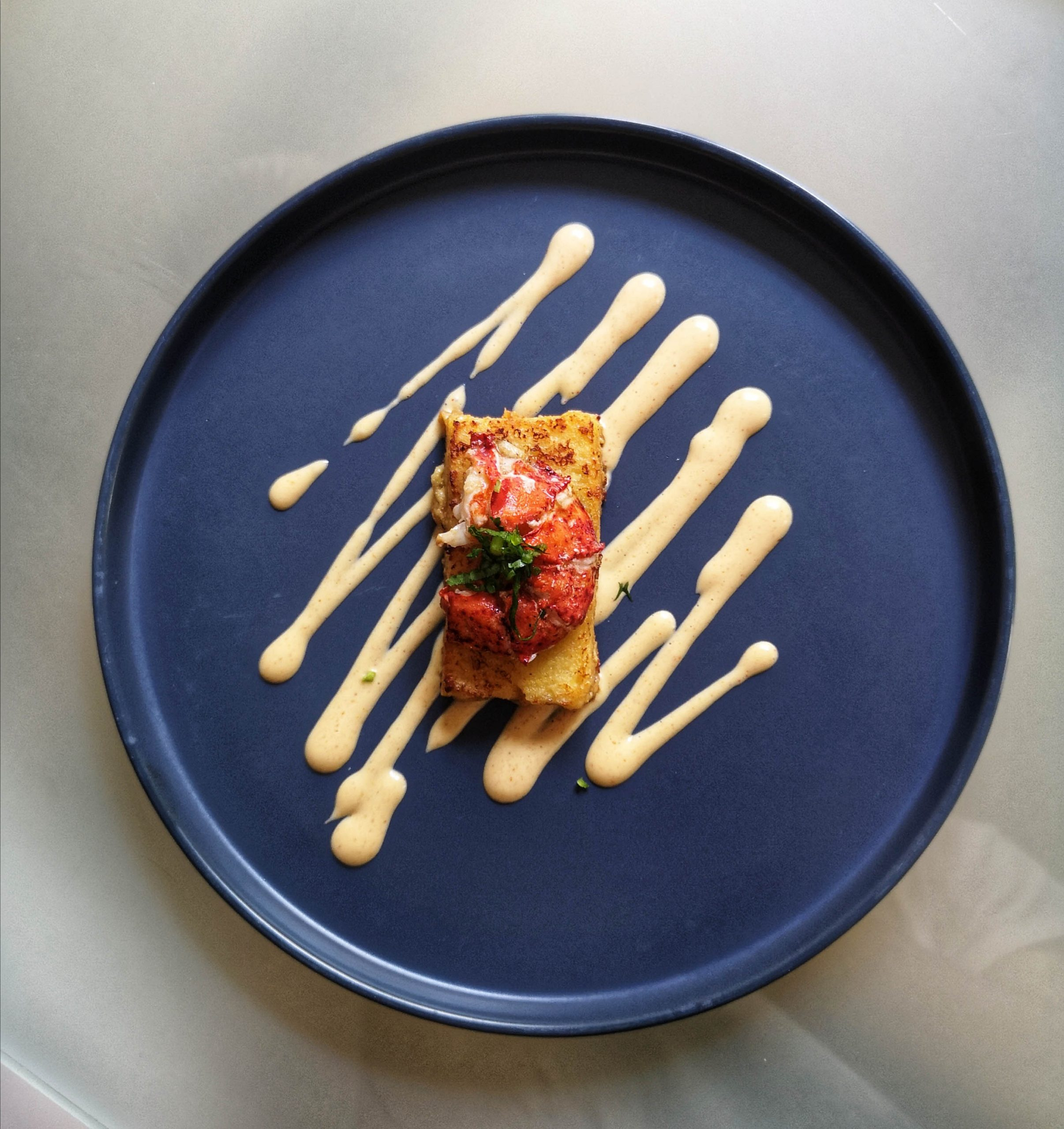 entrée recette de noel avec du homard
